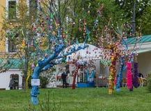 复活节彩蛋17.04.2014 - 05.05.2014 Kyiv乌克兰节日, 免版税图库摄影