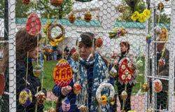 复活节彩蛋17.04.2014 - 05.05.2014 Kyiv乌克兰节日, 图库摄影
