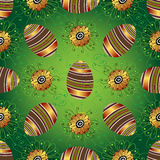 复活节无缝的绿色样式用鸡蛋 免版税库存图片