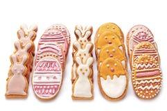 从复活节曲奇饼设置 免版税库存图片