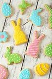 复活节曲奇饼 库存图片