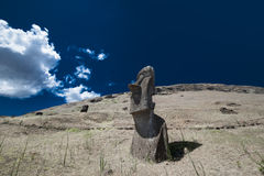 复活节朝向海岛moai 免版税图库摄影