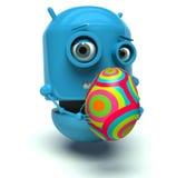 复活节机器人 免版税库存图片