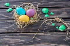 复活节构成用鸡鸡蛋 库存照片