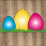 复活节构成,鸡蛋,被回收的纸板 免版税库存图片