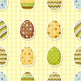 复活节样式用五颜六色的不同的鸡蛋 免版税库存照片