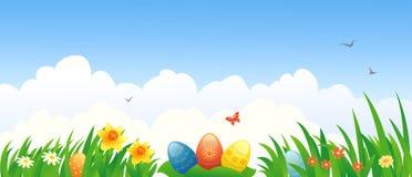 复活节横幅 免版税库存照片