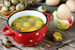 复活节汤用蛋黄 免版税图库摄影