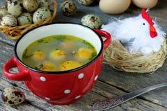 复活节汤用蛋黄 库存照片