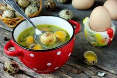 复活节汤用蛋黄 库存图片