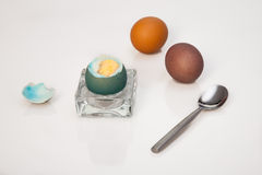 复活节煮沸了鸡蛋 图库摄影