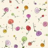 复活节玫瑰无缝的样式 免版税图库摄影