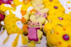 复活节甜糖果兔子 库存图片