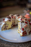 复活节的乳酪蛋糕 免版税库存照片
