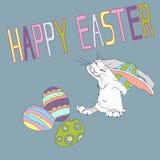 复活节的例证与兔子的图片 免版税库存图片