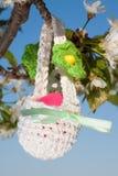 复活节的篮子 免版税库存图片
