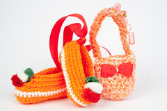 复活节的编织礼物 免版税图库摄影