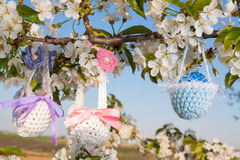 复活节的被编织的篮子 库存图片