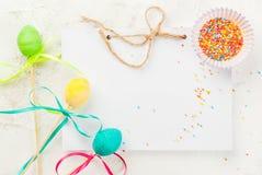 复活节的滑稽的巧克力甜点 库存照片