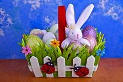 复活节篮子 免版税图库摄影