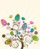 复活节结构树 库存照片