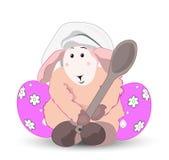 复活节羊羔厨师 免版税库存照片