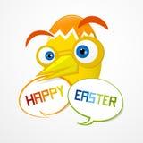 复活节背景。滑稽的抽象鸡蛋。 免版税库存图片