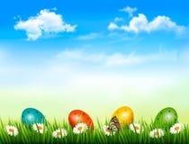 复活节背景。 免版税库存照片