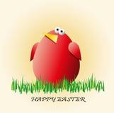 复活节背景用在草的鸡蛋 免版税库存照片