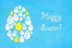 复活节背景用色的鸡蛋 免版税库存图片