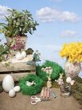 复活节艺术和工艺 图库摄影