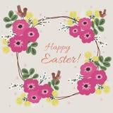 复活节花卉卡片 免版税图库摄影