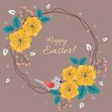 复活节花卉卡片 免版税库存照片