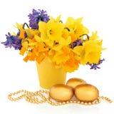 复活节花卉展示 库存照片