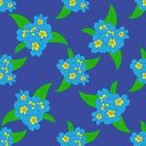复活节花卉无缝的样式 库存照片