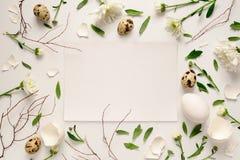 复活节花卉背景 库存照片