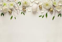 复活节花卉背景 库存图片