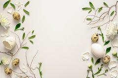 复活节花卉背景 免版税库存照片