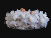 复活节花圈 免版税库存图片