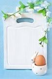 复活节菜单。 图库摄影