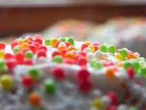 复活节蛋糕装饰特写镜头 免版税库存图片