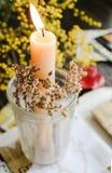 复活节蜡烛 免版税库存照片