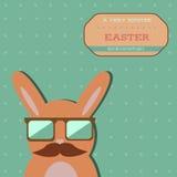 复活节行家兔宝宝卡片 免版税库存照片