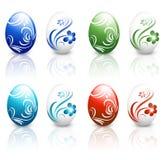 复活节装饰了蛋集合 免版税库存图片