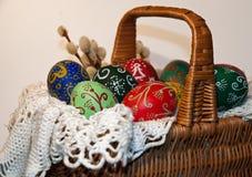 复活节装饰了鸡蛋 库存照片