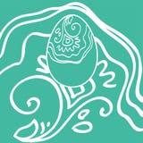 复活节装饰品鸡蛋 免版税图库摄影