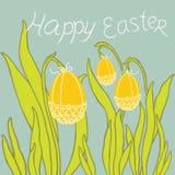 复活节装饰品鸡蛋 免版税库存照片