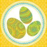 复活节装饰品鸡蛋 库存照片