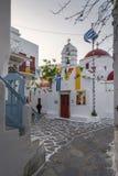 复活节装饰在米科诺斯岛 库存图片