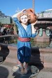 复活节装饰在莫斯科 库存图片